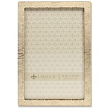 Lawrence Frames 4W x 6H Gold Metal Picture Frame with Linen Pattern (712346)