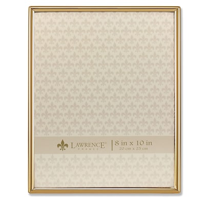Lawrence Frames 8W x 10H Simply Gold Metal Picture Frame (670080)