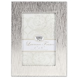 Lawrence Frames 4W x 6H Princess Beads Satin Silver Metal Picture Frame (703046)