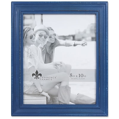 Lawrence Frames 8W x 10H Durham Weathered Navy Blue Wood Picture Frame (746680)