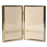 Lawrence Frames 4W x 6H Hinged Double Simply Gold Metal Picture Frame (670046D)
