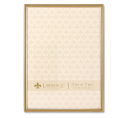 Lawrence Frames 5W x 7H Simply Gold Metal Picture Frame (670057)