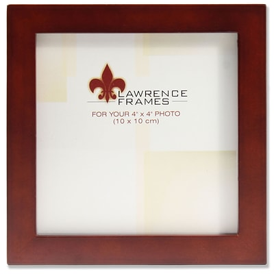 Lawrence Frames 4x4 Walnut Wood Picture Frame - Gallery Collection (755644)