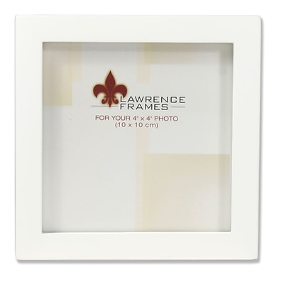 Lawrence Frames 4x4 White Wood Picture Frame - Gallery Collection (755844)