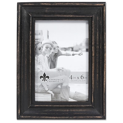 Lawrence Frames 4W x 6H Durham Weathered Black Wood Picture Frame (746546)