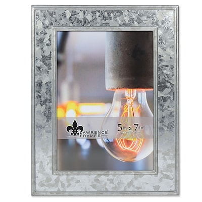 Lawrence Frames 5W x 7H Clarra Galvanized Metal Picture Frame (707057)