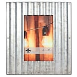 Lawrence Frames 4W x 6H Fluted Galvanized Steel Picture Frame (707146)
