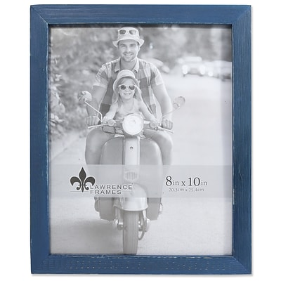 Lawrence Frames 8W x 10H Charlotte Weathered Navy Blue Wood Picture Frame (745780)