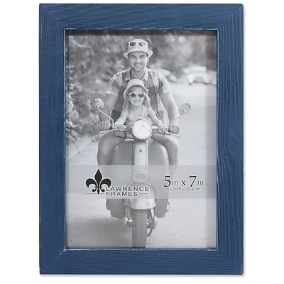 Lawrence Frames 5W x 7H Charlotte Weathered Navy Blue Wood Picture Frame (745757)