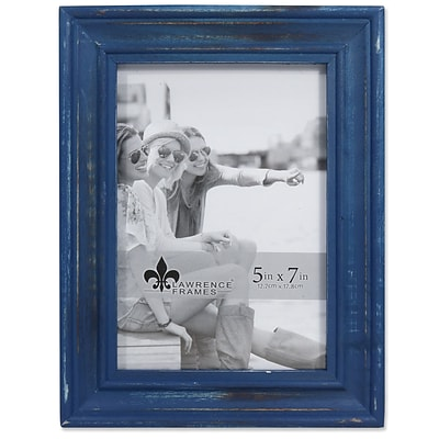 Lawrence Frames 5W x 7H Durham Weathered Navy Blue Wood Picture Frame (746657)