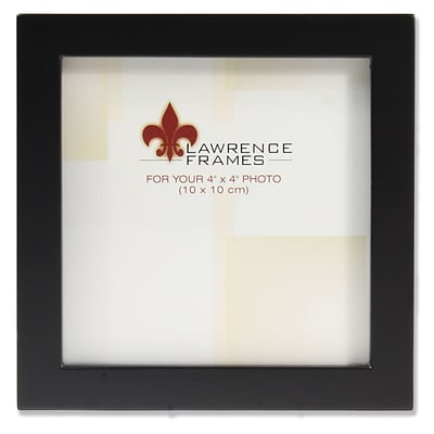 Lawrence Frames 4x4 Black Wood Picture Frame - Gallery Collection (755544)