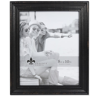 Lawrence Frames 8W x 10H Durham Weathered Black Wood Picture Frame (746580)