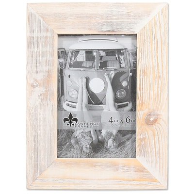 Lawrence Frames 4W x 6H Sarasota Whitewash and Weathered Natural Wood Picture Frame (746046)