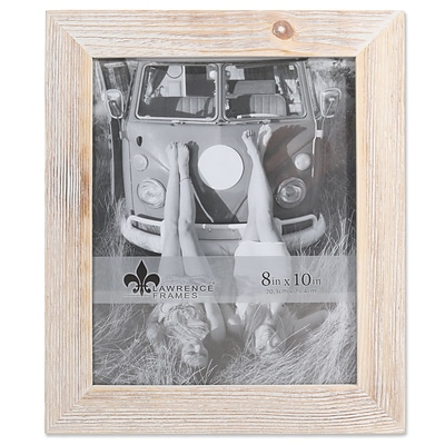 Lawrence Frames 8W x 10H Sarasota Whitewash and Weathered Natural Wood Picture Frame (746080)