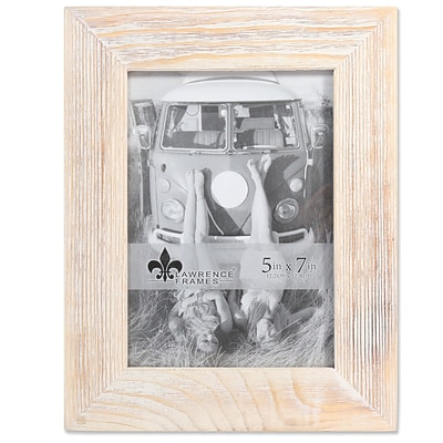 Lawrence Frames 5W x 7H Sarasota Whitewash and Weathered Natural Wood Picture Frame (746057)