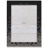 Lawrence Frames 5W x 7H Luxx Faceted Black Metal Picture Frame (703457)