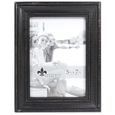 Lawrence Frames 5W x 7H Durham Weathered Black Wood Picture Frame (746557)