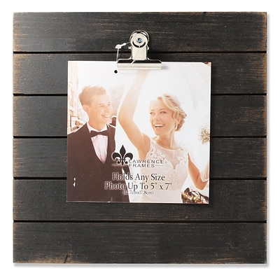 Lawrence Frames 9W x 9H Weathered Black Woodlands Clip Picture Frame - Holds Up to 5W x 7H Photo (741099)
