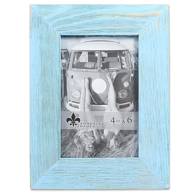 Lawrence Frames 4W x 6H Sarasota Weathered Robins Egg Blue Wood Picture Frame (746146)