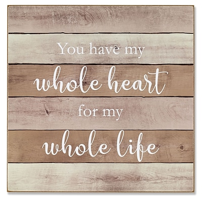 Lawrence Frames 11W x 11H Wall Panel Sign - Whole Heart (645111)