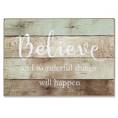 Lawrence Frames 7W x 10H Wall Panel Sign - Believe (645070)
