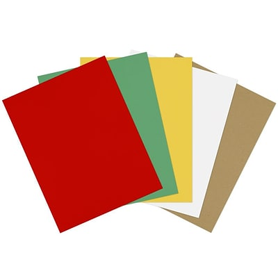 LUX 8 1/2 x 11 Cardstock 500/Sheets, Holiday Multicolor Pack (11CHCOLORPACK10)