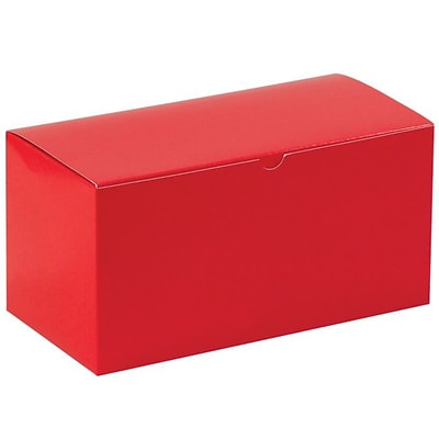 LUX Gift Boxes (12 x 6 x 6) 250/Pack, Holiday Red (MIR-GB1266HR-BP-250)