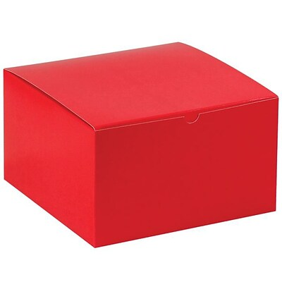 LUX Gift Boxes 250/Pack, Holiday Red (MIR-GB10106HR-BP-250)