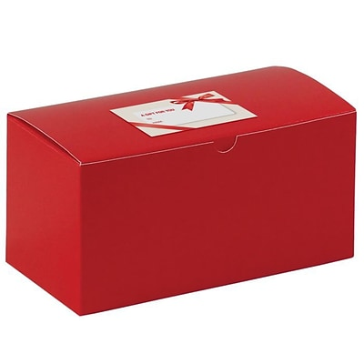 LUX Gift Boxes 500/Pack, Holiday Red (MIR-GB9412412HR-BP-500)