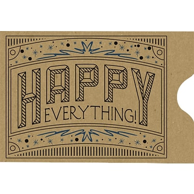 LUX Credit Card Sleeve (2 3/8 x 3 1/2) 250/Pack, Grocery Bag w/ Happy Everything Greeting (1801-GBHE-250)