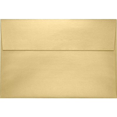 LUX A10 Invitation Envelopes (6 x 9 1/2) 250/Pack, Blonde Metallic (4590-M07-250)