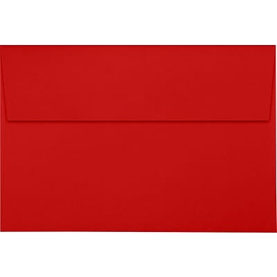 LUX A10 Invitation Envelopes (6 x 9 1/2) 1000/Pack, Ruby Red (LUX-4590-18-1M)