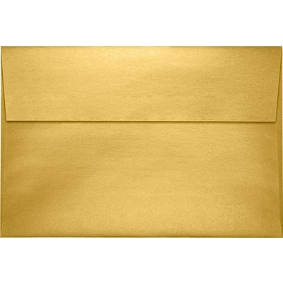 LUX A10 Invitation Envelopes (6 x 9 1/2) 1000/Pack, Gold Metallic (4590-07-1M)