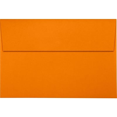 LUX A10 Invitation Envelopes (6 x 9 1/2) 50/Pack, Mandarin (LUX-4590-11-50)