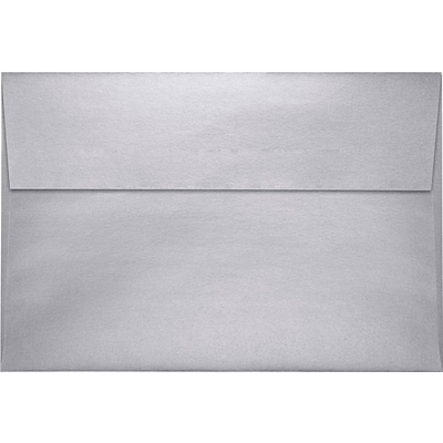 LUX A10 Invitation Envelopes (6 x 9 1/2) 500/Pack, Silver Metallic (4590-06-500)