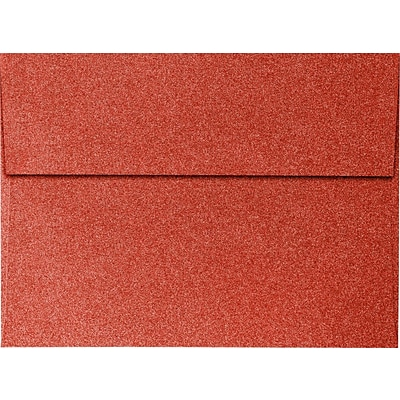 LUX A7 Invitation Envelopes (5 1/4 x 7 1/4) 250/Pack, Holiday Red Sparkle  (5370-MS08-250)