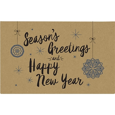 LUX #1 Coin Envelopes (2-1/4 x 3-1/2) 1000/Pack, Grocery Bag w/Seasons Greetings and Happy New Year Greeting (1CO-GBSG-1M)