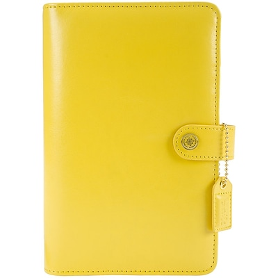 Websters Pages Yellow Color Crush Faux Leather Personal Planner Kit, 5.25 x 8 (CCPK001-Y)