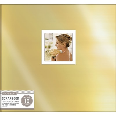 K&Company Gold Foil Post Bound Window Album, 12 x 12 (30706460)