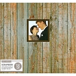 K&Company Weathered Wood Patterned Post Bound Window Album, 12 X 12 (30735668)