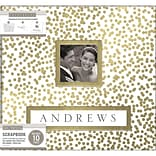 K&Company Gold Foil Scatter Dots Frame-A-Name Post Bound Album, 12 x 12 (30749382)