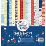 ScrapBerrys Sailing Adventures, 8 Double-Sided/2ea Zoe & Ziggys Paper Pack, 12 x 12 16/Pkg (6099