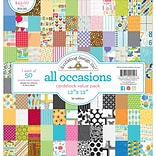 Doodlebug All Occasions Value Kit Cardstock, 12 x 12, 50/Pkg (DBVK-5720)