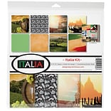 Reminisce Italia, 8 Papers & 1 Stickers Sheet Collection Kit, 12 x 12 (ITA200)