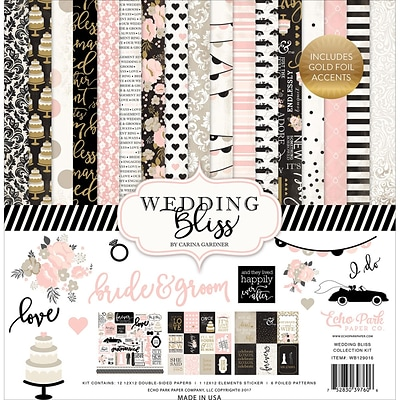 Echo Park Paper Wedding Bliss Collection Kit, 12 x 12 (WB129016)