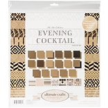 Artdeco Creations The Ritz Evening Cocktail Ultimate Crafts Double-Sided Paper Pad, 12 x 12, 24/Pk