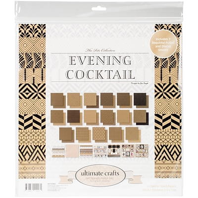 Artdeco Creations The Ritz Evening Cocktail Ultimate Crafts Double-Sided Paper Pad, 12 x 12, 24/Pkg (UL157822)