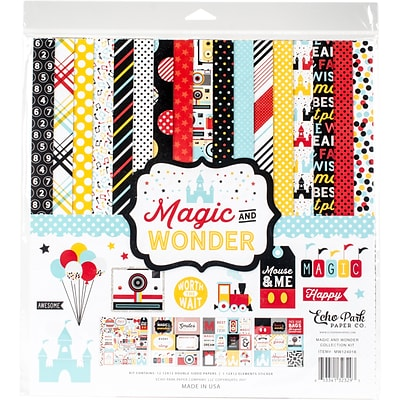 Echo Park Paper Magic & Wonder Collection Kit, 12 x 12 (MW124016)