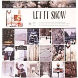 American Crafts Photo Real Let It Snow Holiday Single-Sided Paper Pad, 12 x 12, 36/Pkg (341265)