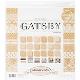 Artdeco Creations The Ritz Gatsby Ultimate Crafts Double-Sided Paper Pad, 12 x 12, 24/Pkg (UL15782
